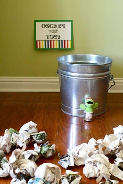 oscar trash can toss game