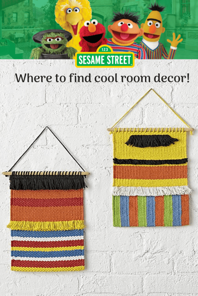 Where to find cool Sesame Street room decor.